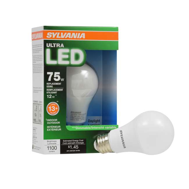 8 x SYL-74428 Sylvania A19 75-Watt LED Daylight Light Bulb (8 Pack) 1