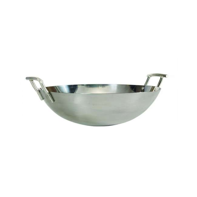 BOPA-24260 Bull Traditional Stainless Steel Wok