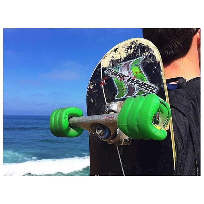 1001S60MMS78AG-U-A Shark Wheel California Roll 60mm 78A Skateboard Wheels, Green (Open Box) 3
