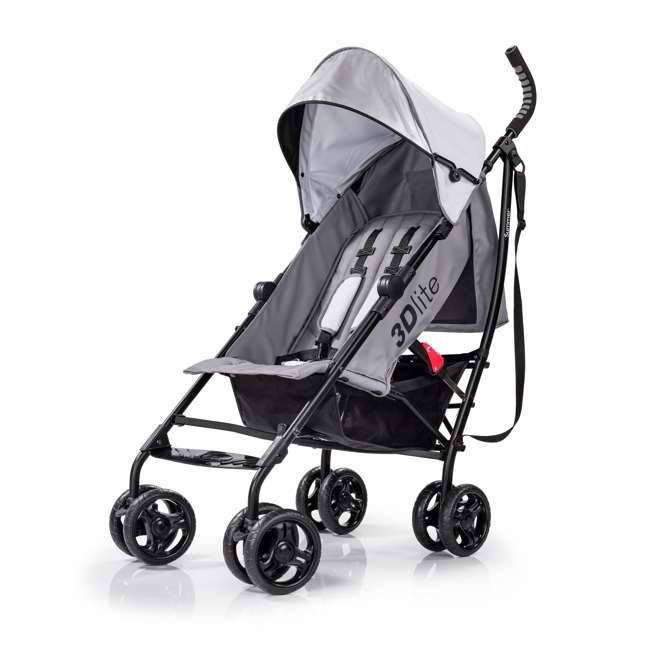 32303 Summer Infant 3Dlite Lightweight Folding Convenience Toddler Baby Stroller, Gray