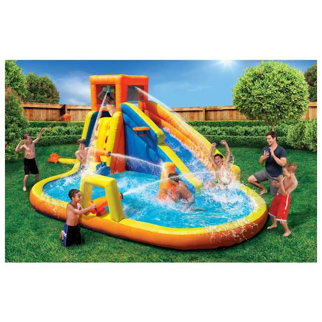 BAN-90341 Banzai 90341 Battle Blast Adventure Park with Blower Motor and 3 Water Cannons 1