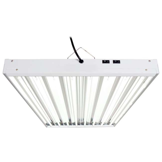 FLT48 Agrobrite 4FT 8 Tube Fixture w/ Lights | FLT48 1