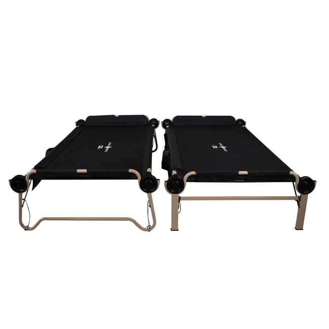 30507BO Disc-O-Bed 2XL Cam-O-Bunk Cot, Black (2 Pack) 7