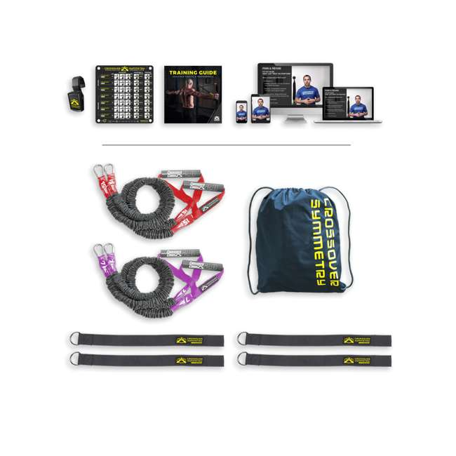 IASRS2 Crossover Symmetry Individual Exercise Package w/ Squat Rack Straps, Athletic 5