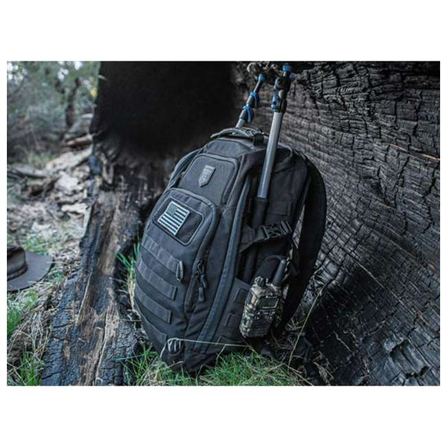 CPG-BP-LEG-M-B Cannae Pro Gear Nylon Medium 21L Legion Day Pack Backpack, Black 1