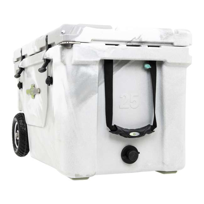 HC50-17W WYLD HC50-17W 50 Quart Dual Compartment Insulated Cooler with Wheels, White/Gray 5