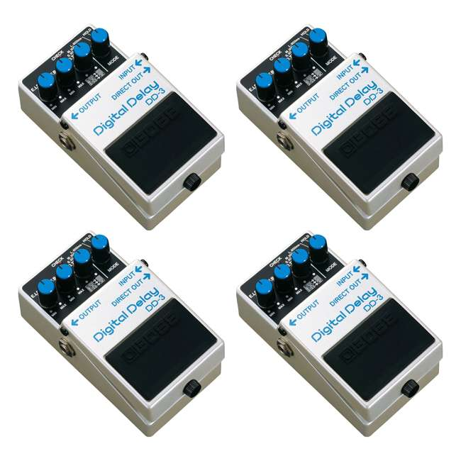4 x DD-3 Boss DD-3 Digital Delay Effects Guitar & Bass Pedal (4 Pack)