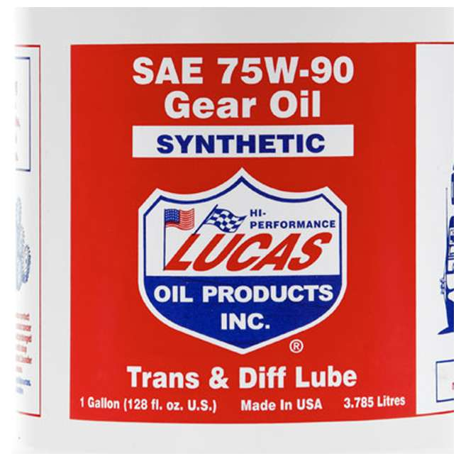 10048 Lucas Oil 10048 Trans & Diff Synthetic SAE 75W-90 Gear Lubricant Oil, 1 Gallon 3