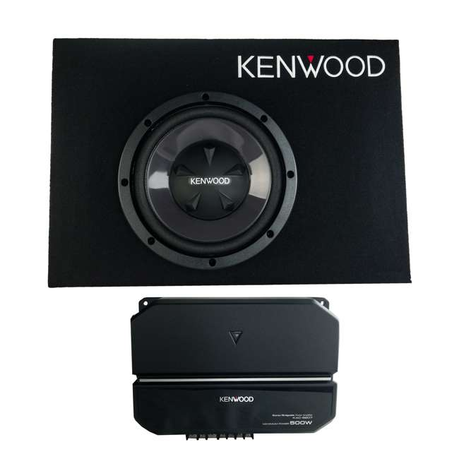 P-W101B-U-B Kenwood 10 Inch Car Loaded Vented Subwoofer & 500W Amplifier Package (Used)