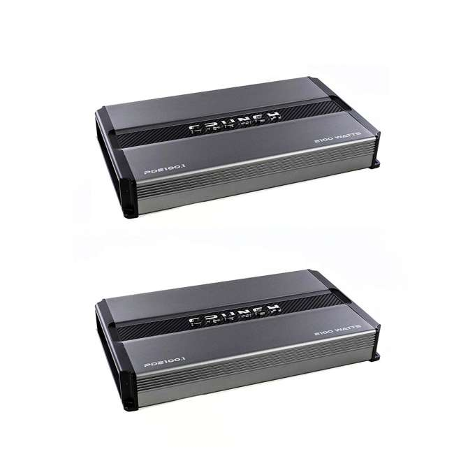 PD2100.1 Crunch Power Drive PD2100.1 2100W Monoblock Class A/B Amplifier (2 Pack)