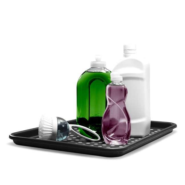 4 x 18106 Madesmart Plastic Under Sink Drip Tray, Graphite (4 Pack) 3