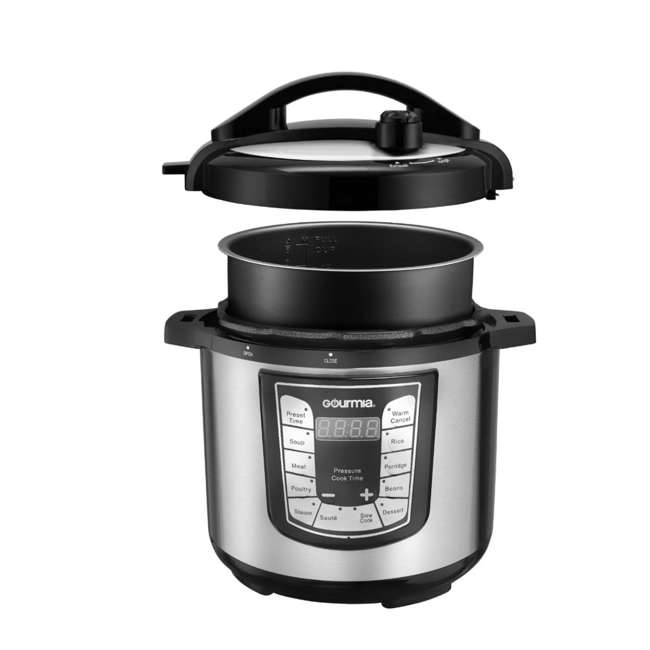 GPC625 Gourmia ExpressPot Digital Multi-Function 6 Qt. Pressure Cooker, Stainless Steel  4
