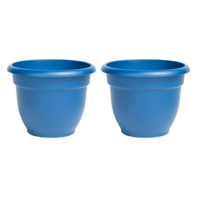 AP0831 Bloem Ariana Self Watering Planter, Deep Sea (2 Pack)