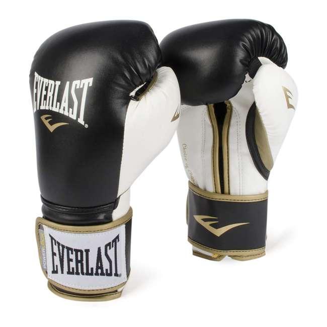 P00000725 Everlast P00000725 14 Ounce Powerlock Hook & Loop Training Gloves, Black/White