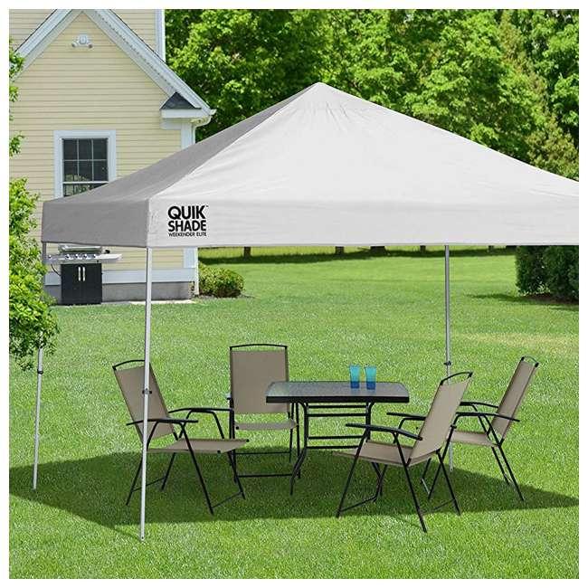 STL-160096DS-U-A ShelterLogic Weekender 10' x 10' Straight Leg Pop Up Canopy, White (Open Box) 2