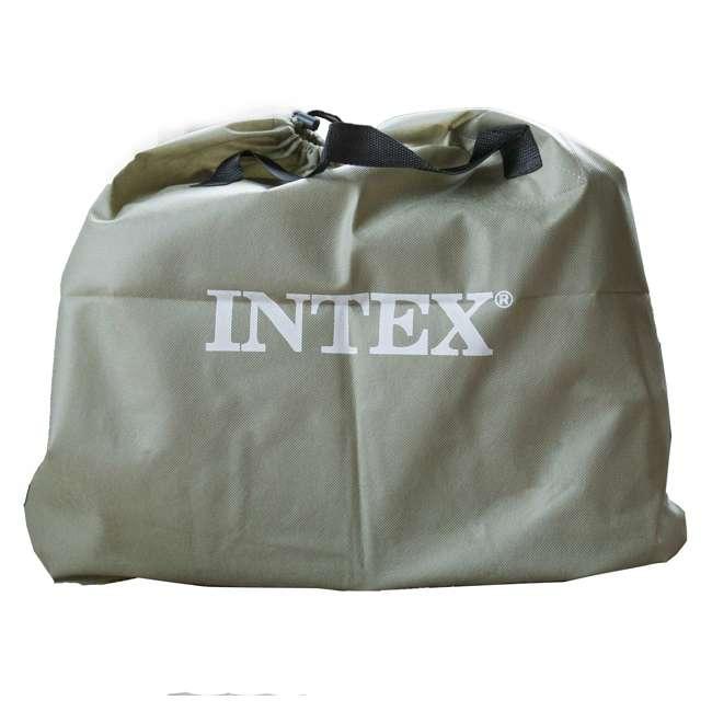 64131W Intex Deluxe Pillow Rest Air Mattress w/ Pump, Twin (2 Pack) 6