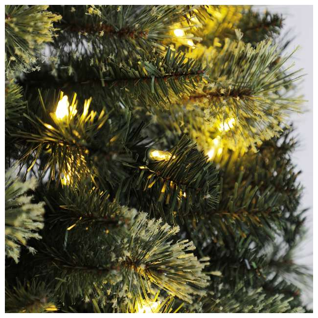 TV70M3AVBL00 Home Heritage Cashmere 7 Foot Artificial Corner Christmas Tree with LED Lights 2