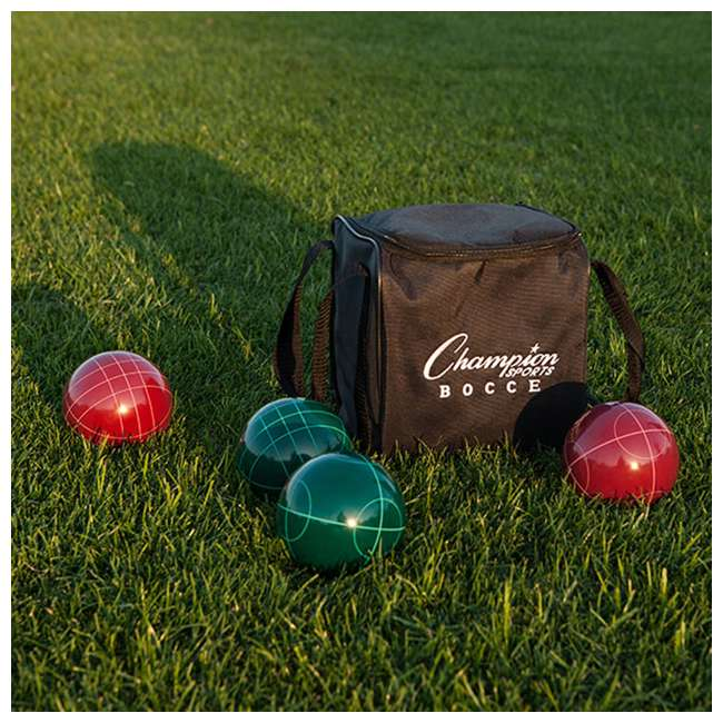 CG200 Champion Sports CG200 Tournament Series Classic Bocce Ball Set with Tote Bag 1