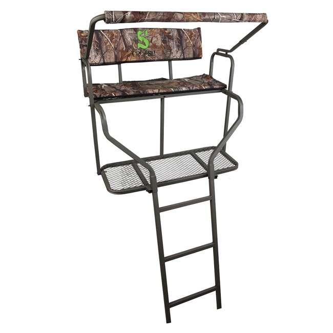 82085-DUALPERFORMER Summit Ladder Stand - Crush Series Dual Performer 2 Man 15' Treestand 82064 for Deer Hunting