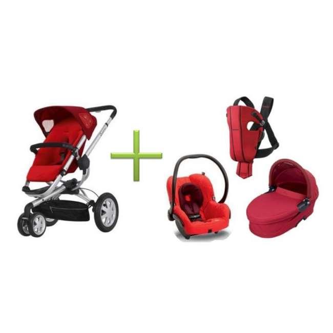 c5e545495a4 Quinny Buzz 3 Stroller Complete Travel Set   CV155RLR + IC099INT + BT042RLR  + Spirit-Red