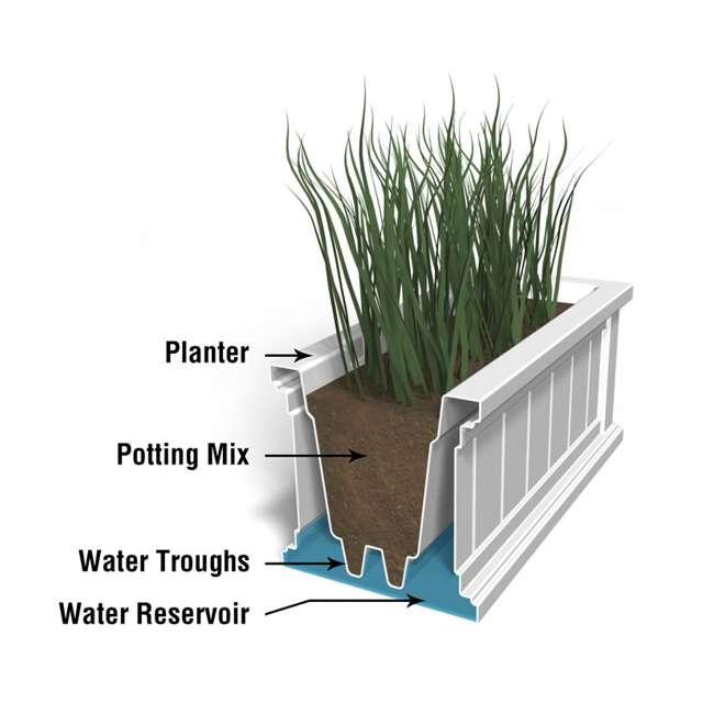 MO-4841-B Mayne Cape Cod 4 Foot Rectangle Outdoor Windowsill Flower Planter Box, Black 3