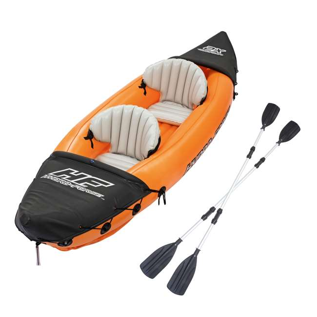 65077E-BW Bestway 126 x 35 Inches Lite-Rapid X2 Inflatable Kayak Float with Oars | 65077E