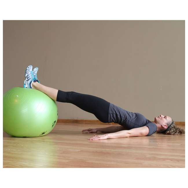 400-150-012 Prism Fitness 75cm Smart Self-Guided Stability Exercise Medicine Ball, Blue 4