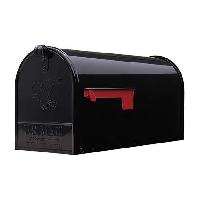 E1600B00-U-B Gibraltar Mailboxes Elite Steel Large Post Mount Mailbox, Black (Used)