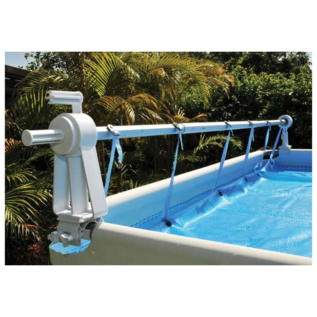 Kokido Solaris Above-Ground Swimming Pool Cover Reel Set (Up to 18.6 ...