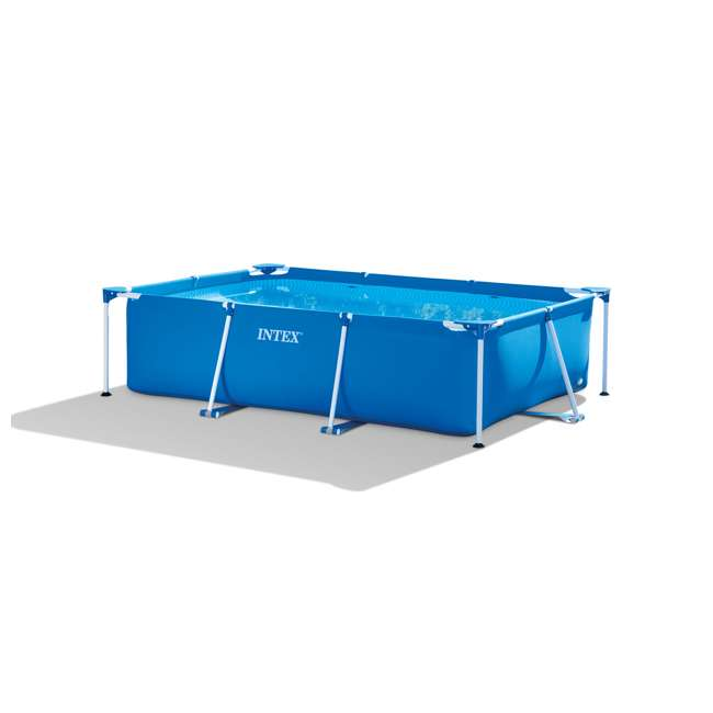 28270E Intex 9.8' x 6.5' x 2.4' Rectangular Frame Above Ground Swimming Pool, Blue