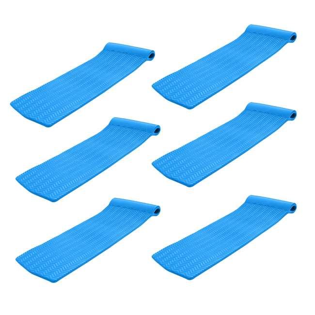 6 x 8070026 TRC Recreation Serenity Lounger Raft Pool Float, Bahama Blue (6 Pack)