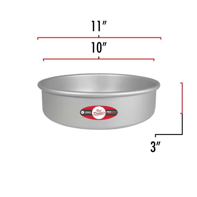 PRD-83 + PRD-63 + PRD-103 Fat Daddio's Anodized Aluminum Round Cake Pan with Solid Bottom (3 Sizes) 6
