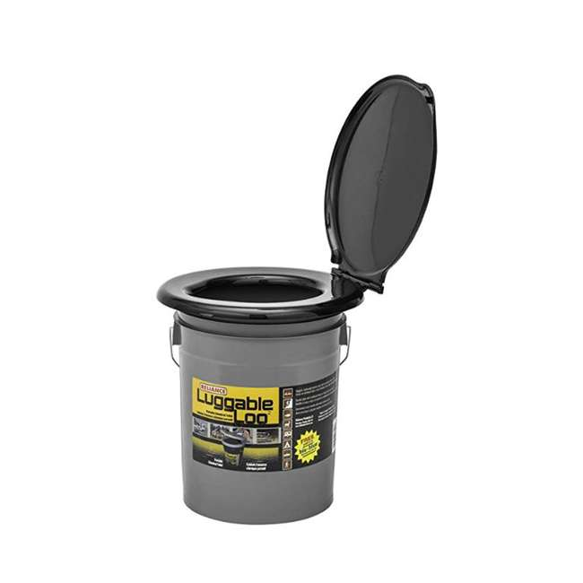 9853-03 Reliance Products Luggable Loo Portable Lightweight 5 Gallon Toilet, Gray
