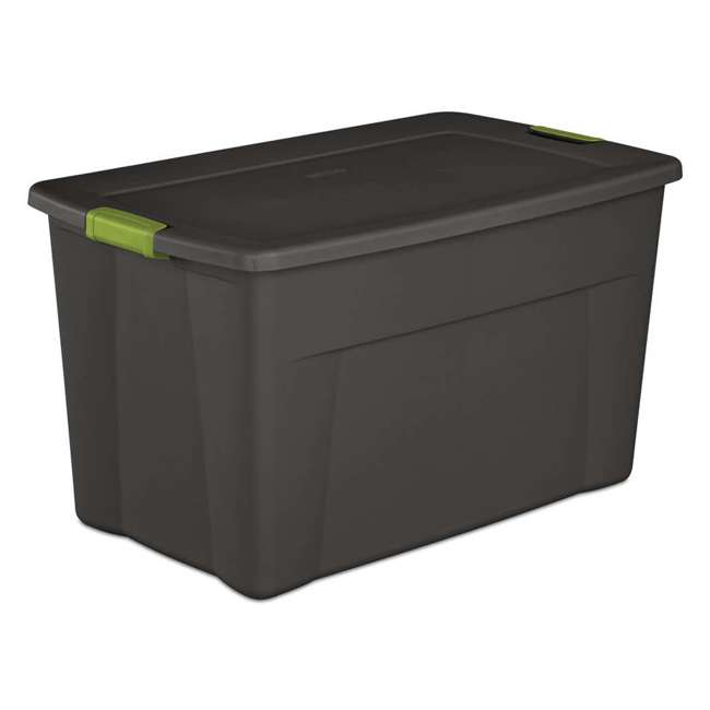 4 x 19453V04-U-A Set of 4) Sterilite 19451004 35 Gallon Storage Tote Box Latching Lid (Open Box) 1