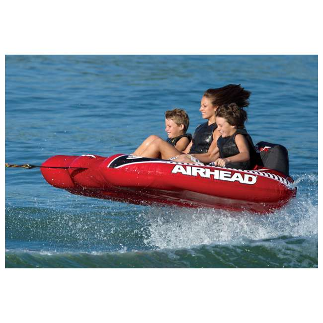AHVI-F3 Airhead Viper 3 Triple Rider Inflatable Towable Tube (2 Pack) 2