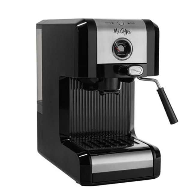 BVMCECMPT1000 Mr. Coffee Easy Maker Authentic Espresso Machine w/ Auto Tamp Technology, Black