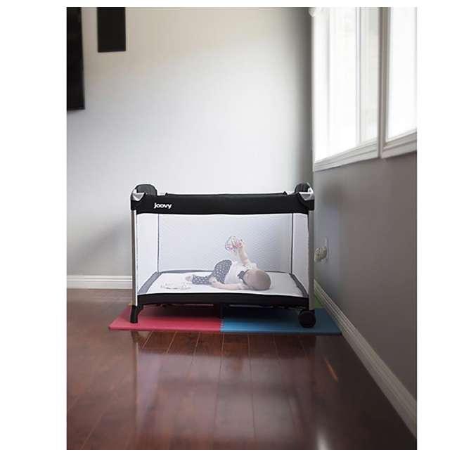 JVY-7017 Joovy Room2 Large Portable Infant and Toddler Playard Playpen 3