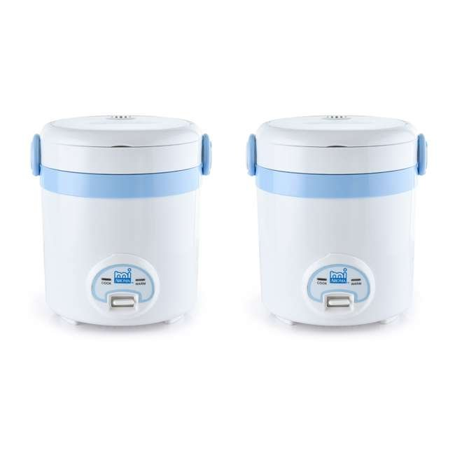 MRC-903BL Aroma miAroma Mini Digital 3-Cup Rice Cooker, Blue (2 Pack)