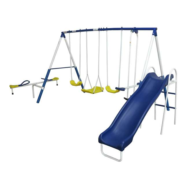 XDP-74320 + XDP-70113 XDP Playground Galore Kids Swing Set with Slide + Anchor Kit 9