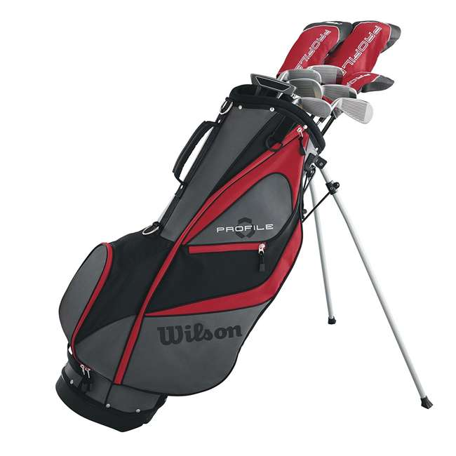 WGGC5800L + WGWP40000 Wilson Profile XD Men's Left Handed Golf Club Package Set & Balls 1