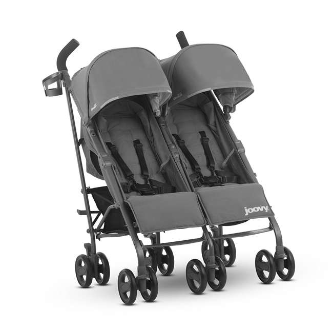 JVY-8089 Joovy Twin Groove Double Ultralight Umbrella Stroller, Charcoal