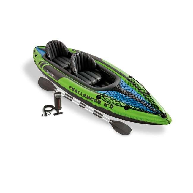 68306EP-U-B Intex Challenger K2 Two Person Inflatable Kayak Kit w/ Oars Pump - (Used) 1