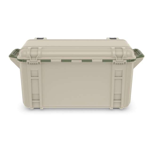 77-54869 OtterBox Venture Heavy Duty Outdoor Camping Fishing Cooler 65-Quarts, Tan/Green 4