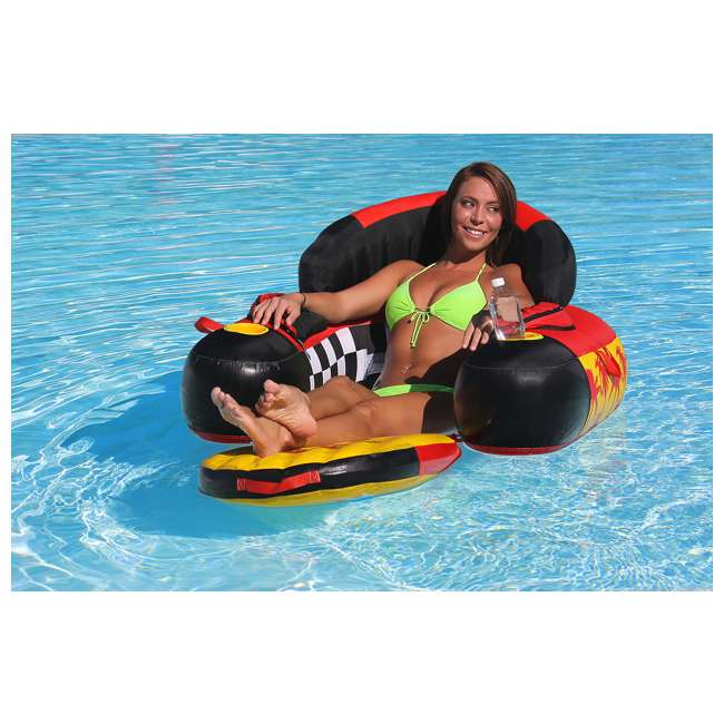 6 x 54-1602 Sportsstuff Siesta Lounge Inflatable Float Raft Lounger (6 Pack) 2