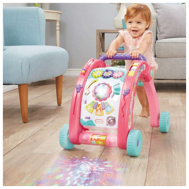 643095-U-A Little Tikes Light 'n Go 3-in-1 Baby Activity Table & Walker Toy, Pink(Open Box) 5