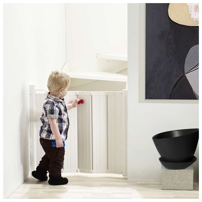 "BBD-58024-5400 BabyDan Guard Me Extend A Guard 9.5"" Foldable Safety Baby Gate Extension, White 4"