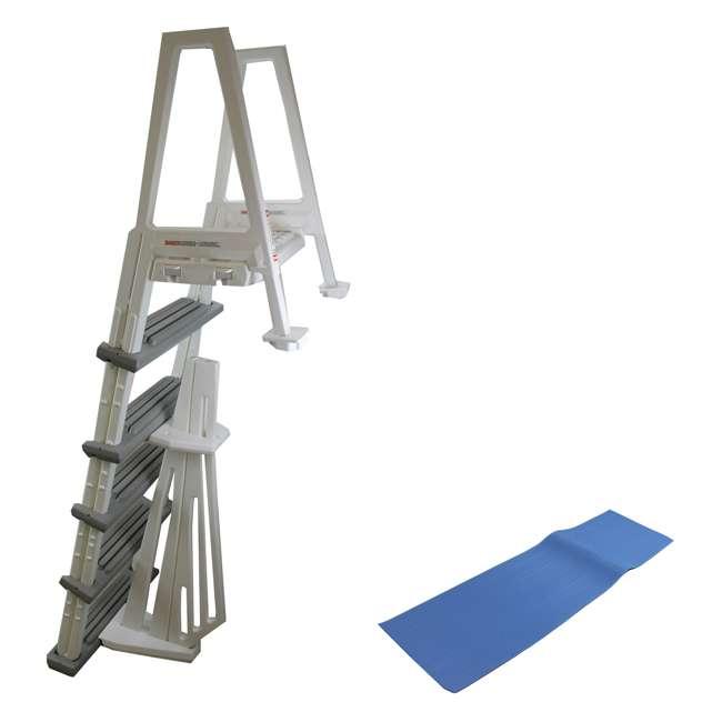 Confer 6000b Heavy Duty In Pool Ladder With Mat 6000b 87953