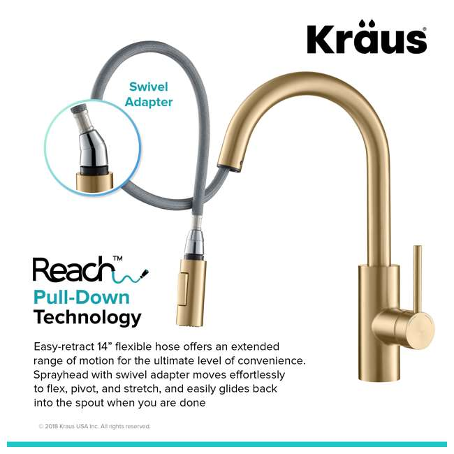Kraus Oletto Single Handle Pull Down Kitchen Faucet
