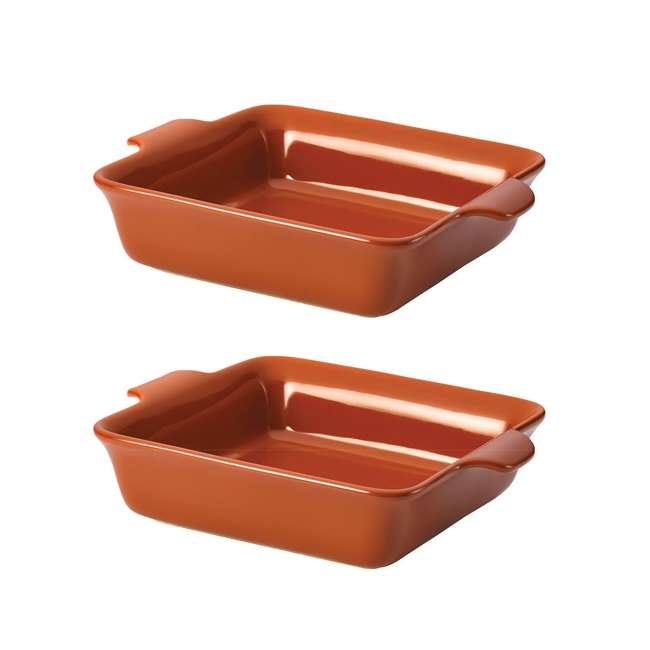 51037 Anolon Vesta Ceramic Stoneware 9-Inch Square Baker (2 Pack)