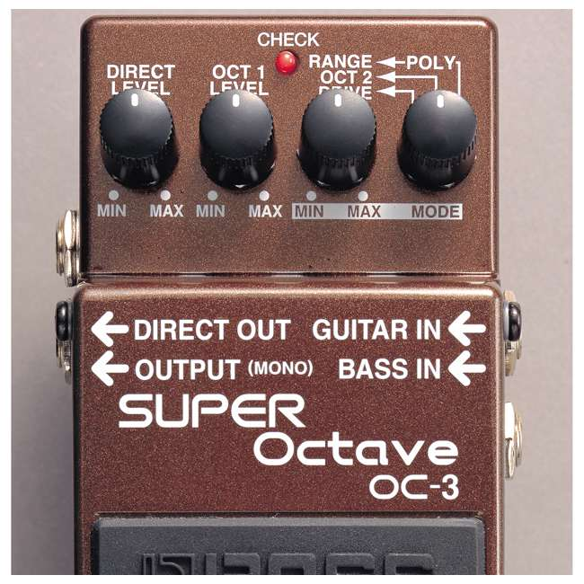 4 x OC-3 Boss OC-3 Electric Guitar Dual Super Octave Guitar Pedal, Brown (4 Pack) 5